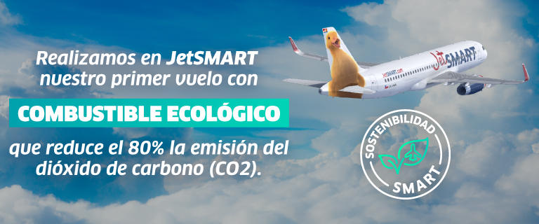 JetSmart estrena avión de combustible ecológico